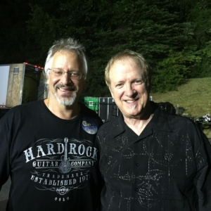 Backstage with my friend Lee Loughnane of Chicago