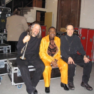 Real Live Horns Backstage backstage with Billy Preston