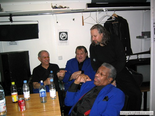 Backstage with a few of the Funk Brothers